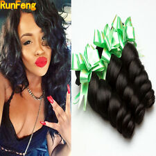 100% Virgin Brazilian Loose Wave Weft 3 Bundles Hair Remy Human Hair Weft Weave