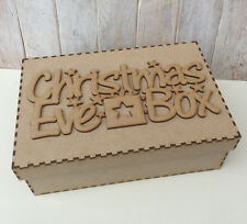 MDF Christmas Eve Box with Personalised Topper Christmas Treat Box WA