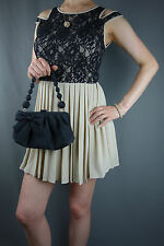 SET - Jumpo Ladies Pink Black Party Mini Dress Size S/M + Next Black Handbag +