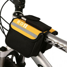 Cycling Bicycle Mountain Bike Frame Pannier Front Tube Saddle Bag Double Side