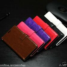 VINTAGE PU LEATHER FLIP WALLET COVER BACK CASE FOR SONY XPERIA XA & XA DUAL