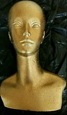 Polystyrene Female Display  golden Mannequin Head Dummy Wig (extra strong)