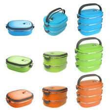 Square Multi-Layers Stainless Steel Thermal Insulated Lunch Box Multicolor