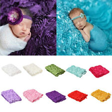 Newborn Baby 3D Rose Blanket Photography Photo Props Baby Shooting Blanket