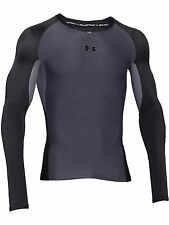 Under Armour Mens Base Layer Clutchfit Longsleeve T Shirt Grey New Sports Top