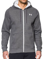 Under Armour Mens Storm Cotton Full Zip Cold Gear Hoody Grey New Hoodie Top