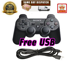 SONY BLACK PLAYSTATION 3 PS3 P3 SIXAXIS DUALSHOCK WIRELESS BLUETOOTH CONTROLLER