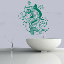 Koi Carp Decorative Fish Under the Sea Wall Stickers Bathroom Decor Art Decals