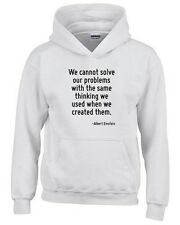 Felpa hoodie bambino CIT0248 We cannot solve our problems with the same thinking