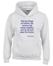 Felpa hoodie bambino CIT0178 Only two things are infinite.