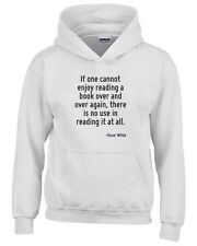 Felpa hoodie bambino ENJOY0114 If one cannot enjoy reading a book over and over