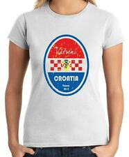 T-shirt Donna WC0659 World Cup Football - Croatia