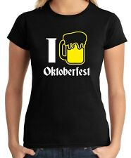 T-shirt Donna BEER0127 I Love Oktoberfest Beer