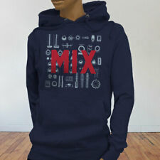 Mix and Master Audio Engineer Producer Artist EDM Womens Navy Hoodie