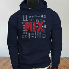Mix and Master Audio Engineer Producer Artist EDM Mens Navy Hoodie