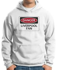 Felpa Hoodie WC0299 DANGER LIVERPOOL FAN, FOOTBALL FUNNY FAKE SAFETY SIGN