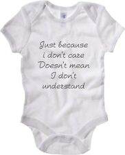 Baby Rib Body neonato fun happiness TDM00141 just because i don t care