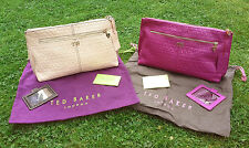 BNWT Authentic Ted Baker Embossed Leather Cosmetics Bag With Mirror