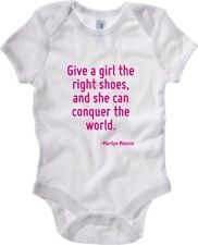 Body neonato CIT0087 Give a girl the right shoes, and she can conquer the world.