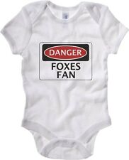 Body neonato WC0296 DANGER LEICESTER CITY, FOXES FAN, FOOTBALL FUNNY FAKE SAFETY