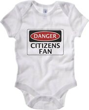 Body neonato WC0301 DANGER MANCHESTER CITY, CITIZENS FAN, FOOTBALL FUNNY FAKE SA