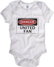 Body neonato WC0314 DANGER UNITED FAN, FOOTBALL FUNNY FAKE SAFETY SIGN