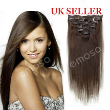 Emosa 100% Human Hair Extensions Clip In Remy Human Hair Extensions Full Head 7P