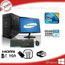 "PC DESKTOP QUAD CORE INTEL WIFI HD 500GB/1TB RAM 4GB/8GB MONITOR 19""/22"""