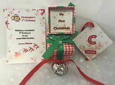 Large Personalised Baby's First 1st Christmas Believe Jingle Bell Polar Express
