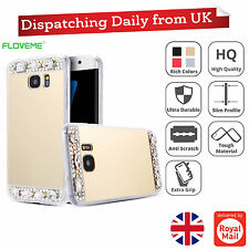 Mirror Crystal Bling Diamond TPU Thin Case Back Cover For Apple iPhone Models
