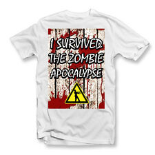 I Survived The Zombie Apocalypse T-Shirt | Zombies | The Walking Dead | Funny