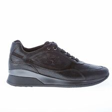 HOGAN scarpe donna women shoes Elective sneaker in pelle stampata NERO