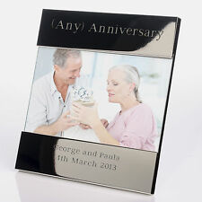 Wedding Anniversary Gift - ANY ANNIVERSARY Shiny Silver Plated Photo Frame -