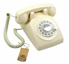 GPO 1970's Retro Style Telephone with Rotary Dial - Ivory