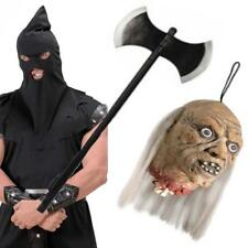 Boia Kit 3 Pz Testa Umano Di Taglia Ascia Costume Da Halloween Assassino