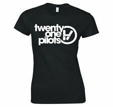 "Unisex TWENTY ONE PILOTS ""BAND LOGO"" Music Band Ladies T SHIRT"