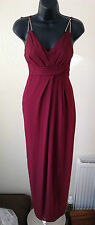 ASOS Burgundy Cross Strap Maxi Dress with Triangle Bars