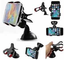 Universal Rotating Car van windscreen Mount Holder For all  Mobile Phones GPS UK