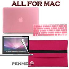 Baby Pink Frosted Matte Rubberized Hardshell Hard Case Cover For Apple MacBook