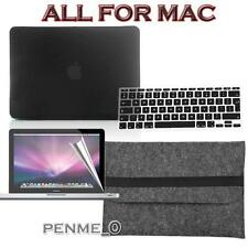 Black Frosted Matte Rubberized Hardshell Hard Case Cover For Apple MacBook