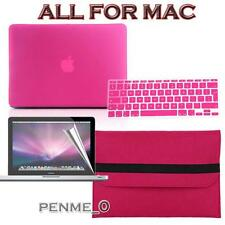 Hot pink Frosted Matte Rubberized Hardshell Hard Case Cover For Apple MacBook