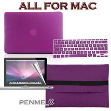 Dark purple Frosted Matte Rubberized Hardshell Hard Case Cover For Apple MacBook