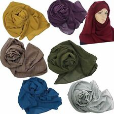 Plain Chiffon Hijab Ladies Abaya Head Scarf Bridesmaid Wedding Shawl/Sarong