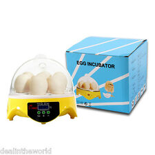 Mini Digital Egg Incubator 7PCS Eggs Automatic Poultry Chicken Hatcher Machine