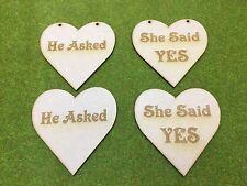 MDF Laser cut - He Asked She Said YES
