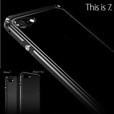 Luxury Aluminum Metal Bumper Frame Clear Back Cover Case For iPhone 7 / 7 Plus