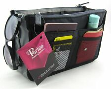 Periea Handbag Organiser, 12 Compartments - Chelsy (Black)