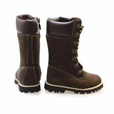 NWT Timberland Aspht Trl CLS Tall Toddler Brown Leather Boots Size 6 & 7