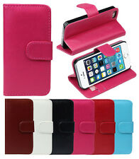 Apple iPhone 5 / 5S / SE Flip Case Schutz Hülle K.Leder Tasche Cover Slim Etui⭐