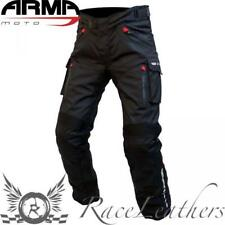 ARMR TOTTORI EVO MOTORCYCLE MOTORBIKE WATERPROOF PANTS TROUSERS BLACK